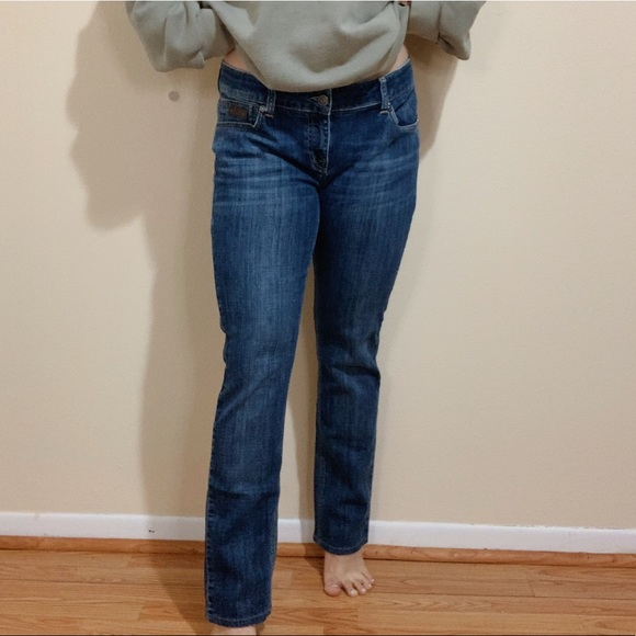 Burberry Brit Dark Wash Kensington Skinny Leg Jean